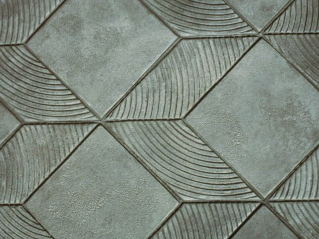 3-D Graphics Pattern Close Up - Bomanite Imprint Systems Concrete Graphics