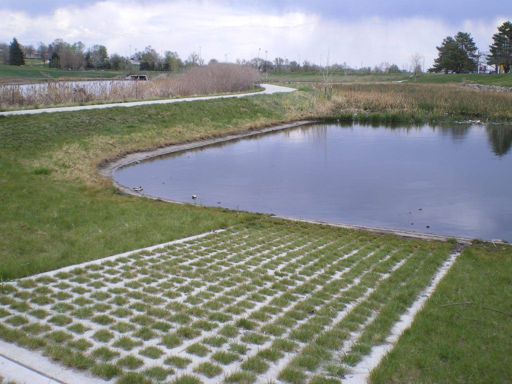The Grasscrete system by Bomanite allows for flexibility where structured paving surfaces are necessary, but without compromising the visual appeal of the exterior landscape, and because the concrete system is pervious, the need to control storm water runoff is greatly reduced.