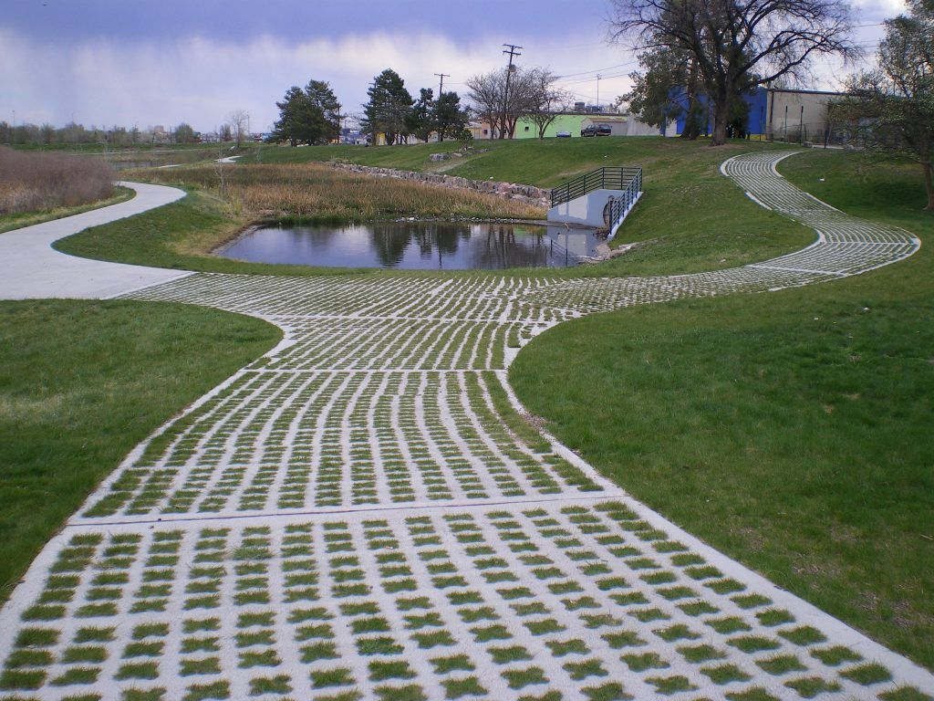This Grasscrete system by Bomanite is both functional and pleasing in appearance, providing continuous access where a structural paving surface is necessary, but without compromising the appeal of the exterior landscaping.