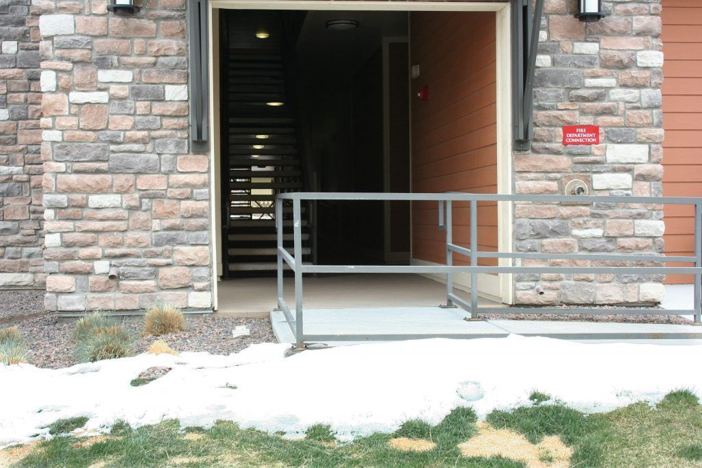 The Bomanite Broadcast Aggregate System was used to replace all of the worn out, cracked concrete at this apartment complex and was the perfect choice to provide a surface that won't crack, is weather resistant, and easy to maintain.