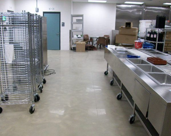 Cheshire County Jail Kitchen Floor - Bomanite Custom Polished Concrete Belcolore System