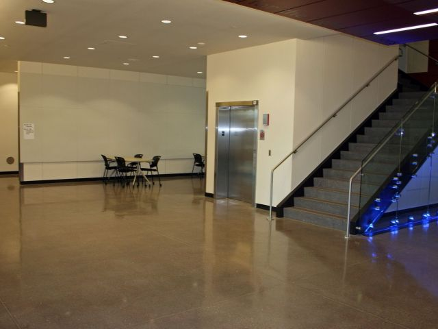 Law Enforcement Education Center - Bomanite Modena TG Polished Interior Concrete Floorv