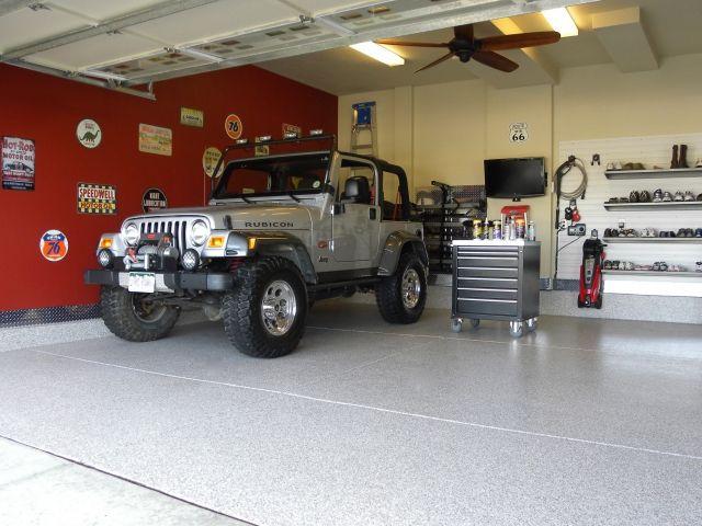 Bomanite Broadcast Flake - Garage Floor