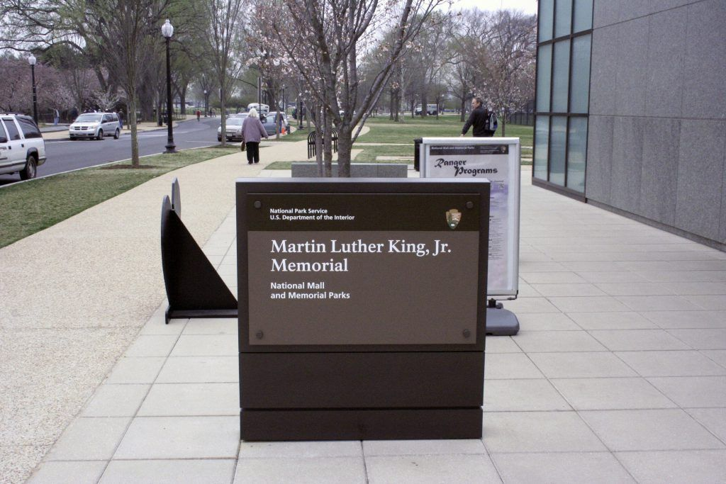 The memorial to commemorate the life and work of Dr. Martin Luther King, Jr. includes natural elements such as water, stone, and trees and using Bomanite Grasscrete to create a pervious hardscape was the perfect choice to provide vehicle access, but also tie into the other surrounding natural elements.