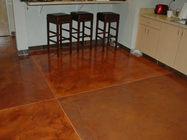 Bomanite Toppings Systems - Micro-Top with Patene Artectura Chemical Stain Interior Office Floor