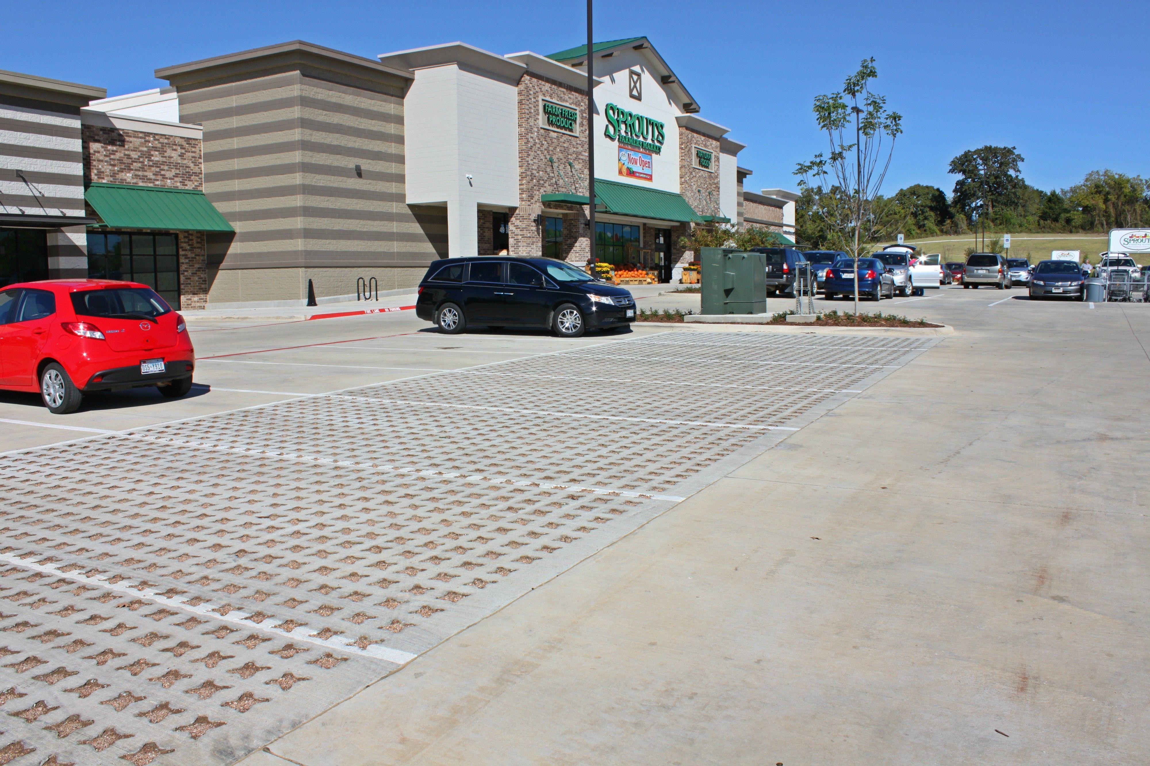 Sprouts Farmers Market Denton Tx - Bomanite Pervious Concrete Grasscrete Stone Filled System