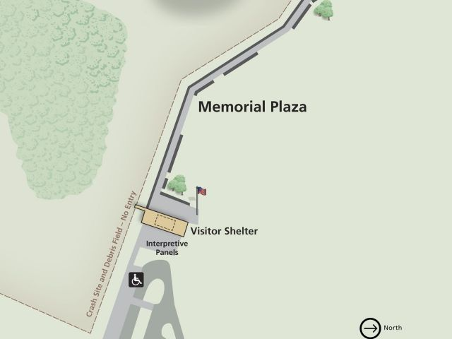 Flight 93 Memorial Plaza Map