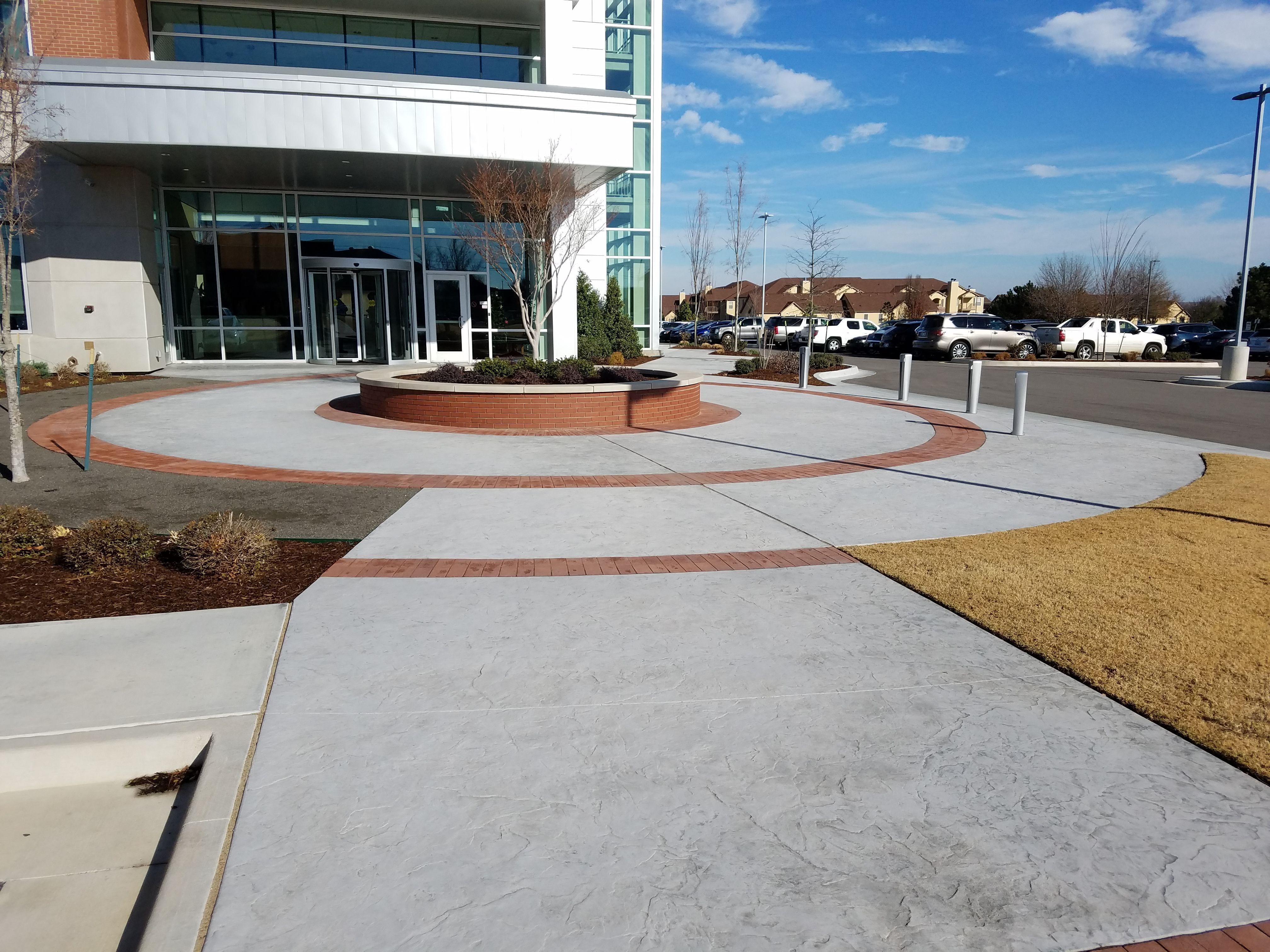 Tulsa Teachers Credit Union (TTCU) using Bomanite Imprint Systems with Bomacron Patterns in Tulsa, OK