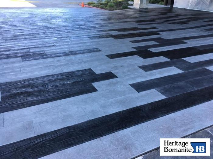 I absolutely love this Bomanite Bomacron stamped concrete because it creates an inviting atmosphere with the use of pattern, texture, and warm color.