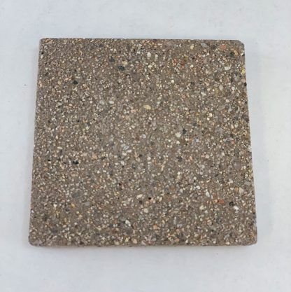 Bomanite Exposed Aggregate Systems using Eldorado Sandscape in a 3x3 sample.
