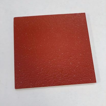 Bomanite Toppings Systems using Bold Red Florspartic 100 in a 3x3 sample.