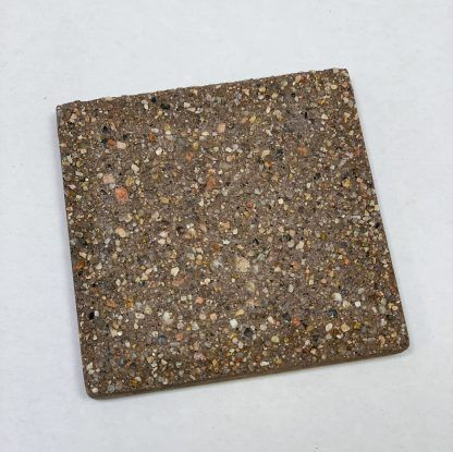 Bomanite Exposed Aggregate Systems using Autumn Brown Sandscape in a 3x3 sample.